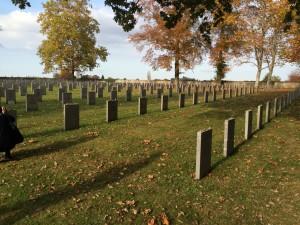 Der Deportiertenfriedhof mit Namen und Herkunftsort der Juden